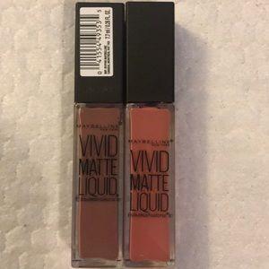 2 New Maybelline Vivid Matte Liquid Lipstick